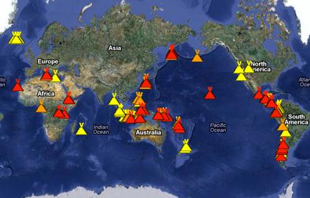 Vulkane Der Erde Karte.übersicht Der Aktiven Vulkane Pravda Tv Lebe Die Rebellion