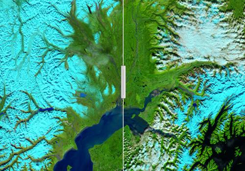 Susitna river in alaska eine flut wie ein gemälde
