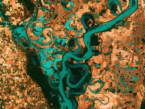 Mississippi-satellitenbild