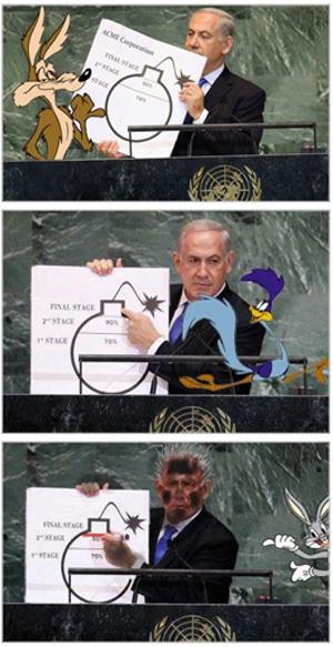 netanjahu-comic-bombe-vereinte-nationen
