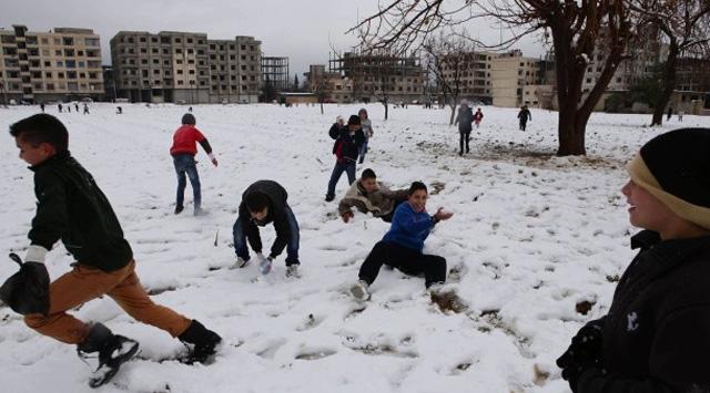schnee-syrien