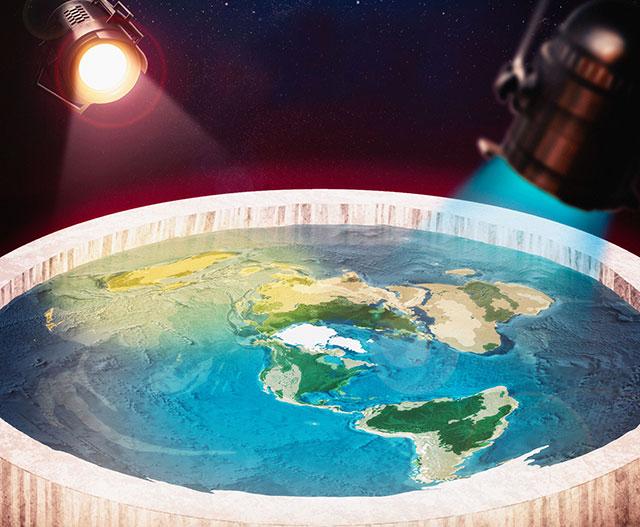 Flache Erde Modell